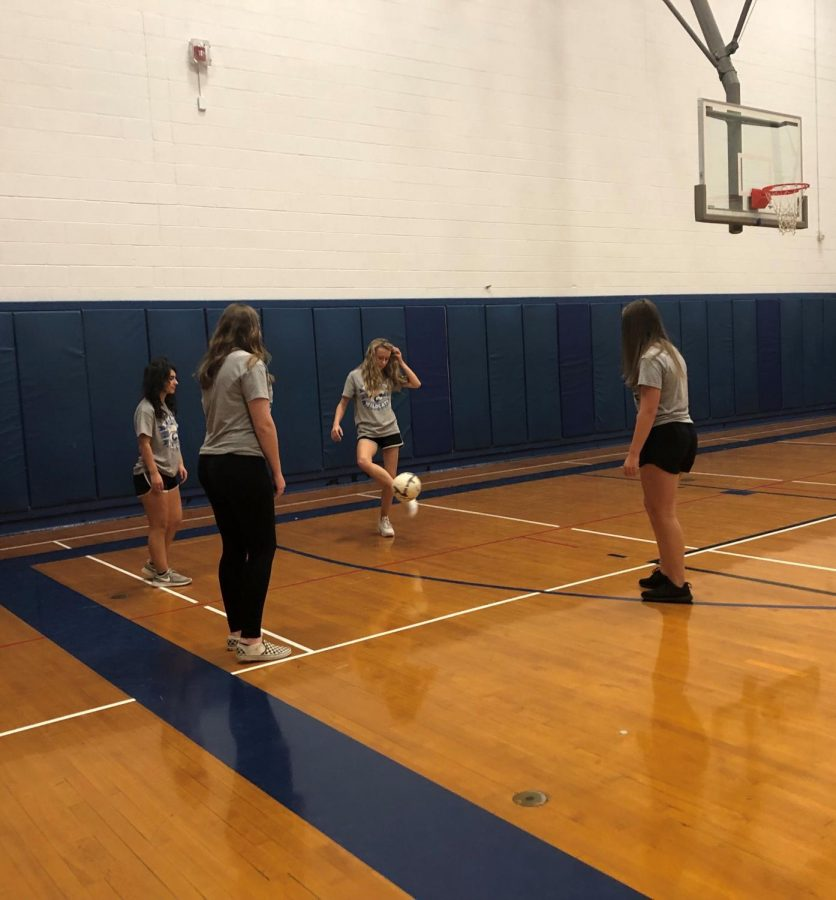 A typical Side x Side class period in the gym.