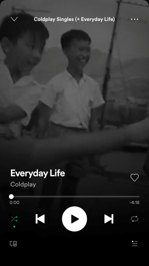 """Everyday Life"" by Coldplay"